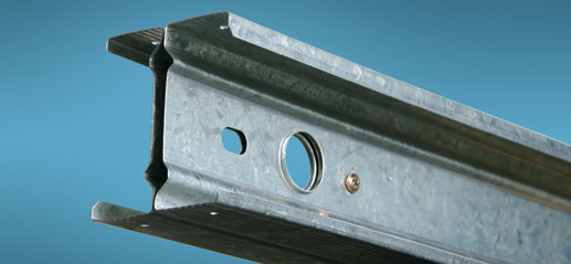 End of Paal H-section steel frame beam