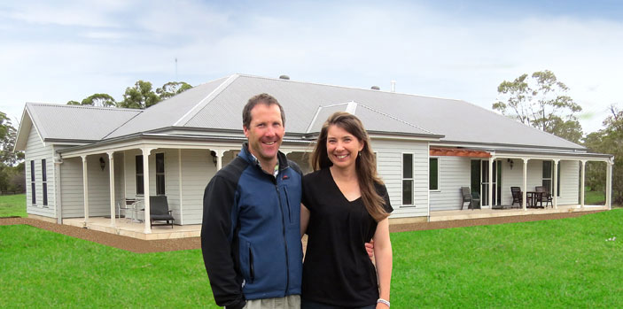 Brendan and Karen Helmrich owner built their own Paal steel frame kit home at Little Hartley, just west of the Blue Mountains in New South Wales.