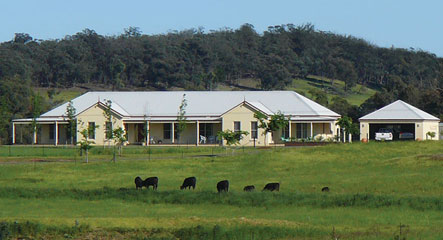 Derwent based Paal Kit Home built in Greenwich Park, NSW. It quite a great accomplishment for any home build. A sturdy steel frame house.