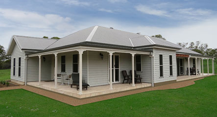 Paal kit home's Windsor based design built by owner builders Brendan and Karen Helmrich in Hartley, NSW. They saved more than $100,000.