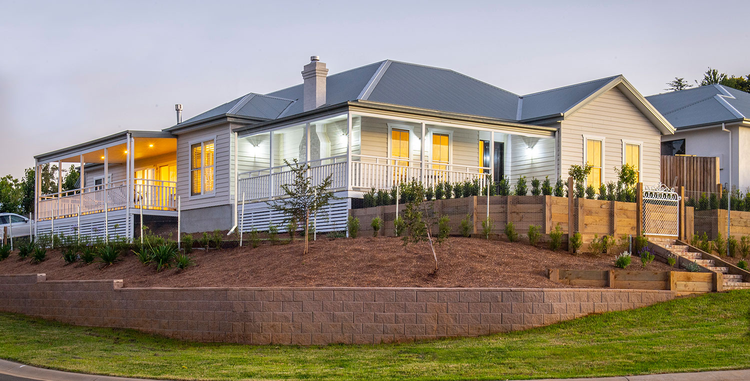 Home builder customises country-style home
