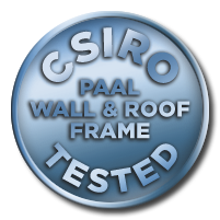 PAAL Kit Homes CSIRO tested steel frames & roof trusses.