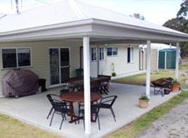 Alfresco complement your choice of kit home design. Talk to PAAL Kit Homes NSW, Victoria or QLD now!