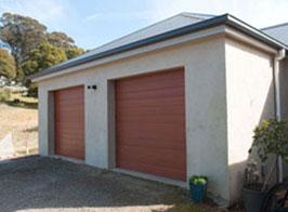Double garage with 2 roller doors