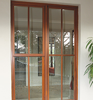 Floor to ceiling windows added by kit home customers