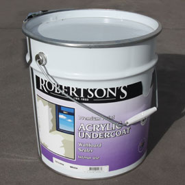 Sufficient undercoat to cover all internal kit home walls and ceilings.
