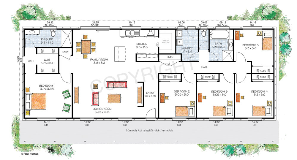 The berrima floor plan - Download a PDF here - Paal Kit Homes offer easy to build steel frame kit homes for the owner builder and have display / sale centres in Sydney NSW, Melbourne VIC, Brisbane QLD, Townsville NTH QLD, Perth WA.