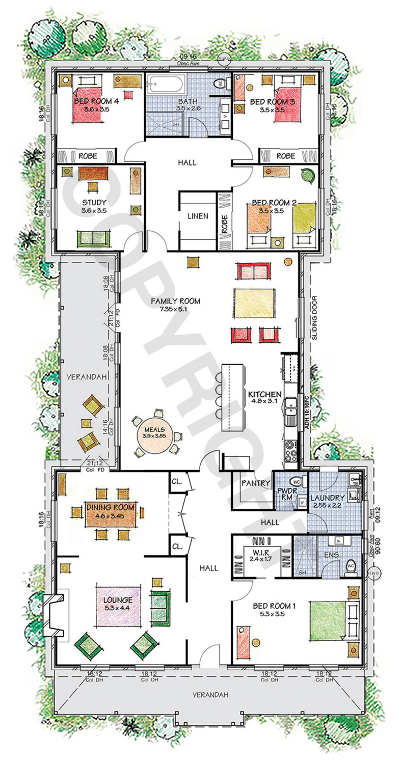 The Camden floor plan - Explore our virtual tours - Paal Kit Homes offer easy to build steel frame kit homes for the owner builder and have display / sale centres in Sydney NSW, Melbourne VIC, Brisbane QLD, Townsville NTH QLD, Perth WA.