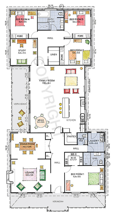 Paal kit homes nsw vic qld the camden floor plan for House designs for large blocks