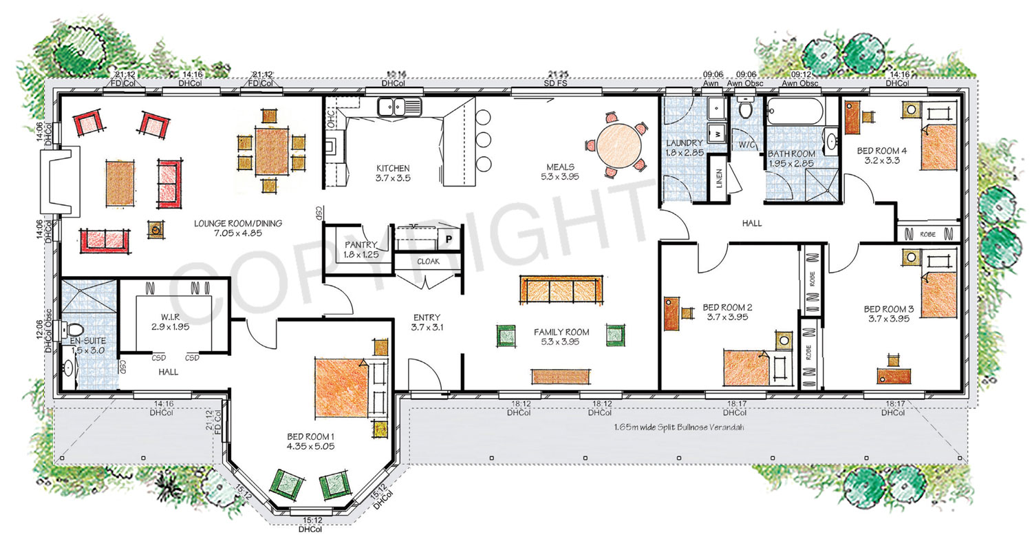The Darling floor plan - Download a PDF here - Paal Kit Homes offer easy to build steel frame kit homes for the owner builder and have display / sale centres in Sydney NSW, Melbourne VIC, Brisbane QLD, Townsville NTH QLD, Perth WA.