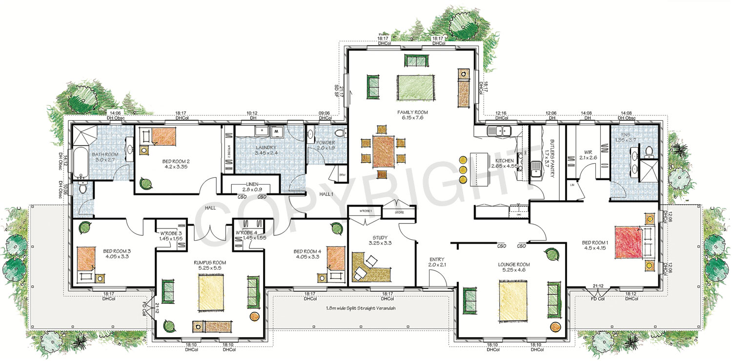 The Derwent floor plan - Download a PDF here - Paal Kit Homes offer easy to build steel frame kit homes for the owner builder and have display / sale centres in Sydney NSW, Melbourne VIC, Brisbane QLD, Townsville NTH QLD, Perth WA.