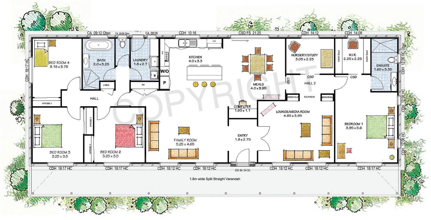 The elizabeth floor plan - Download a PDF here - Paal Kit Homes offer easy to build steel frame kit homes for the owner builder and have display / sale centres in Sydney NSW, Melbourne VIC, Brisbane QLD, Townsville NTH QLD, Perth WA.
