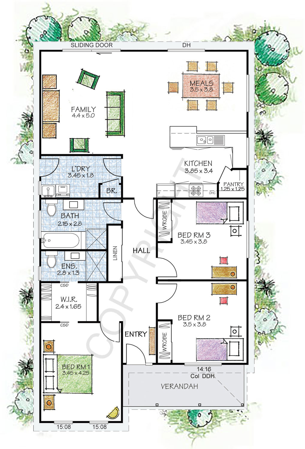 The fitzroy floor plan - Download a PDF here - Paal Kit Homes offer easy to build steel frame kit homes for the owner builder and have display / sale centres in Sydney NSW, Melbourne VIC, Brisbane QLD, Townsville NTH QLD, Perth WA.