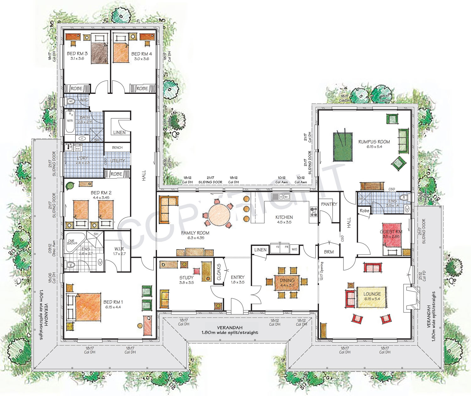 The Castlereagh floor plan
