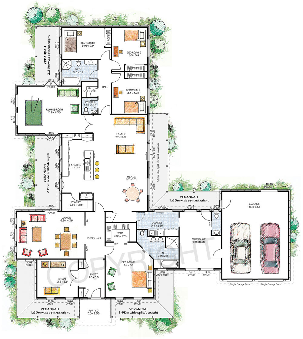 The Franklin floor plan