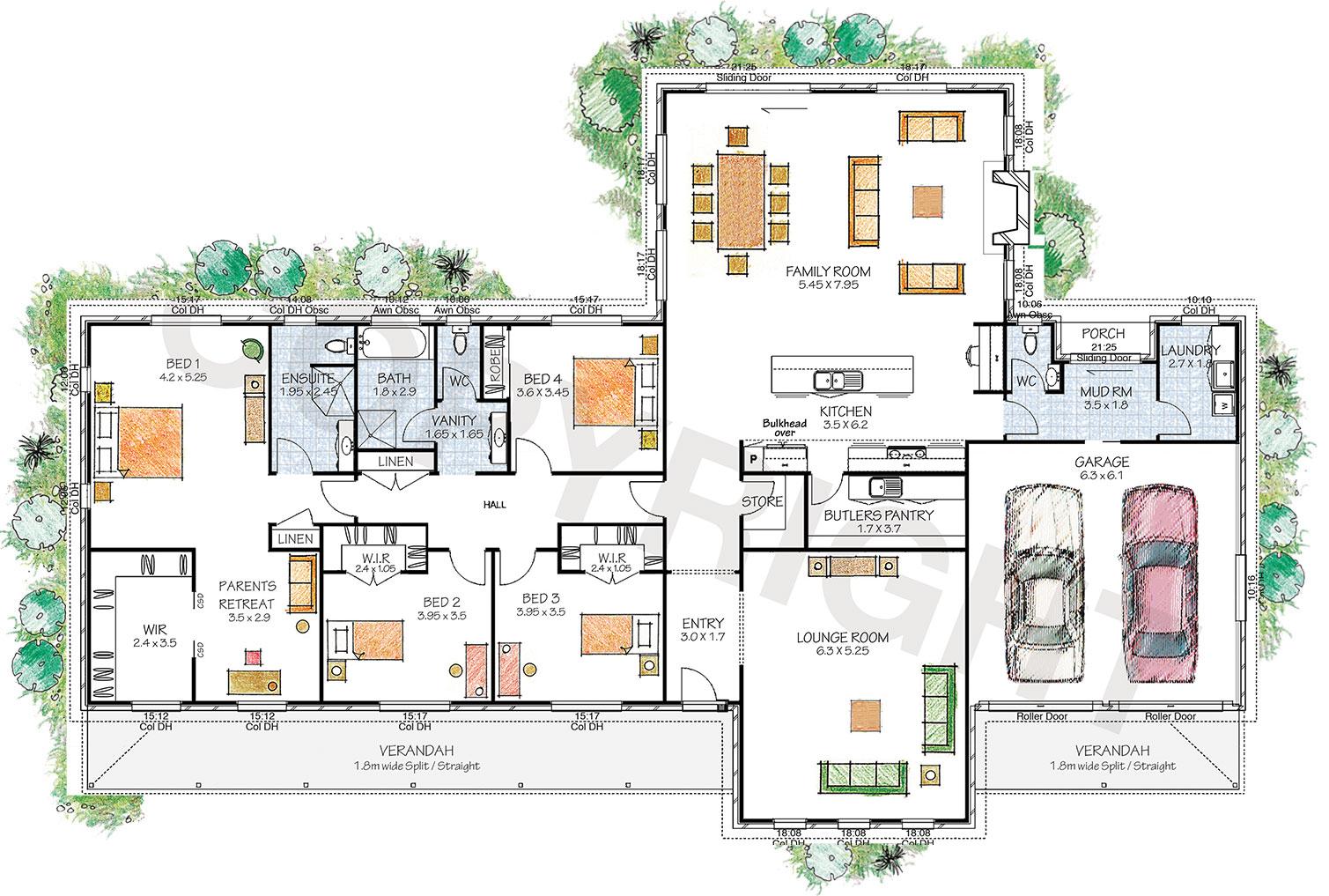 The Hartley floor plan