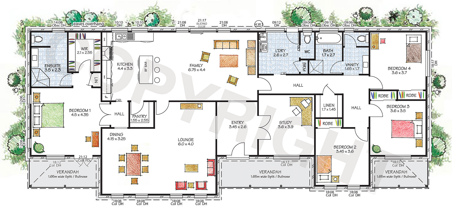 The Hawkesbury floor plan