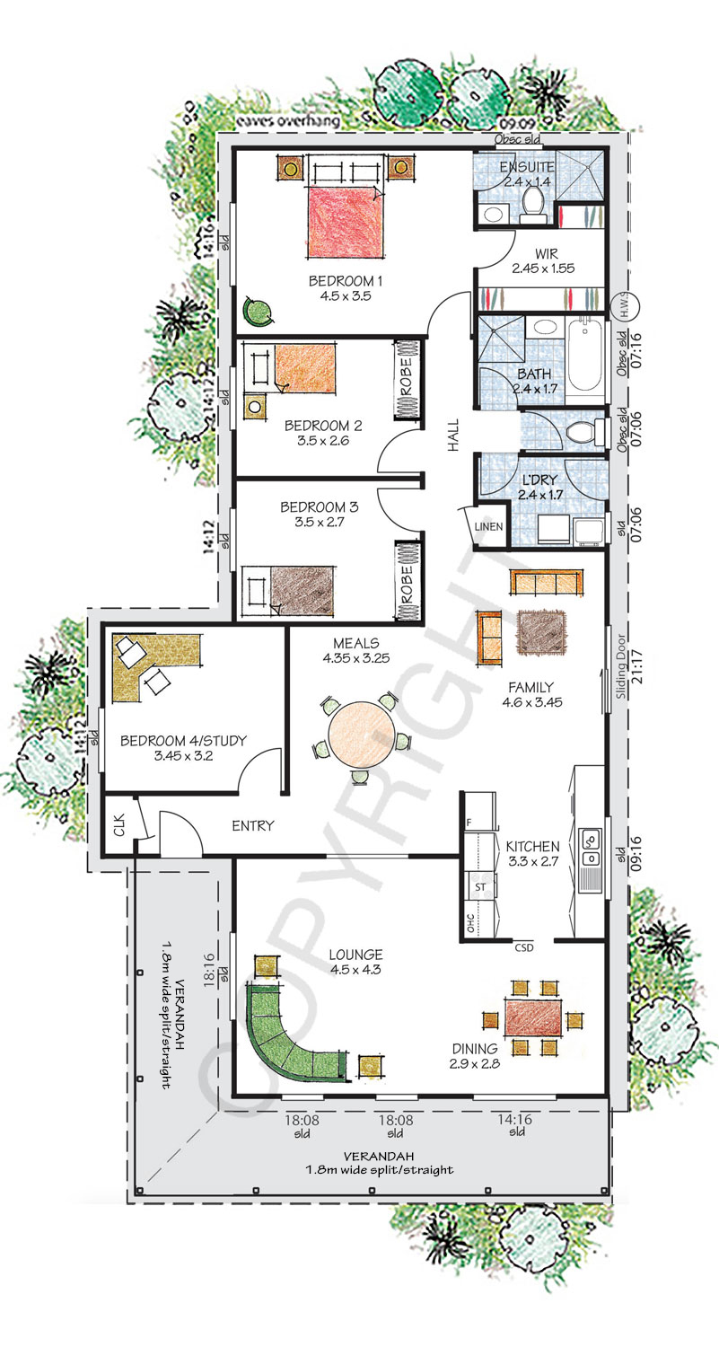 The Kiama floor plan