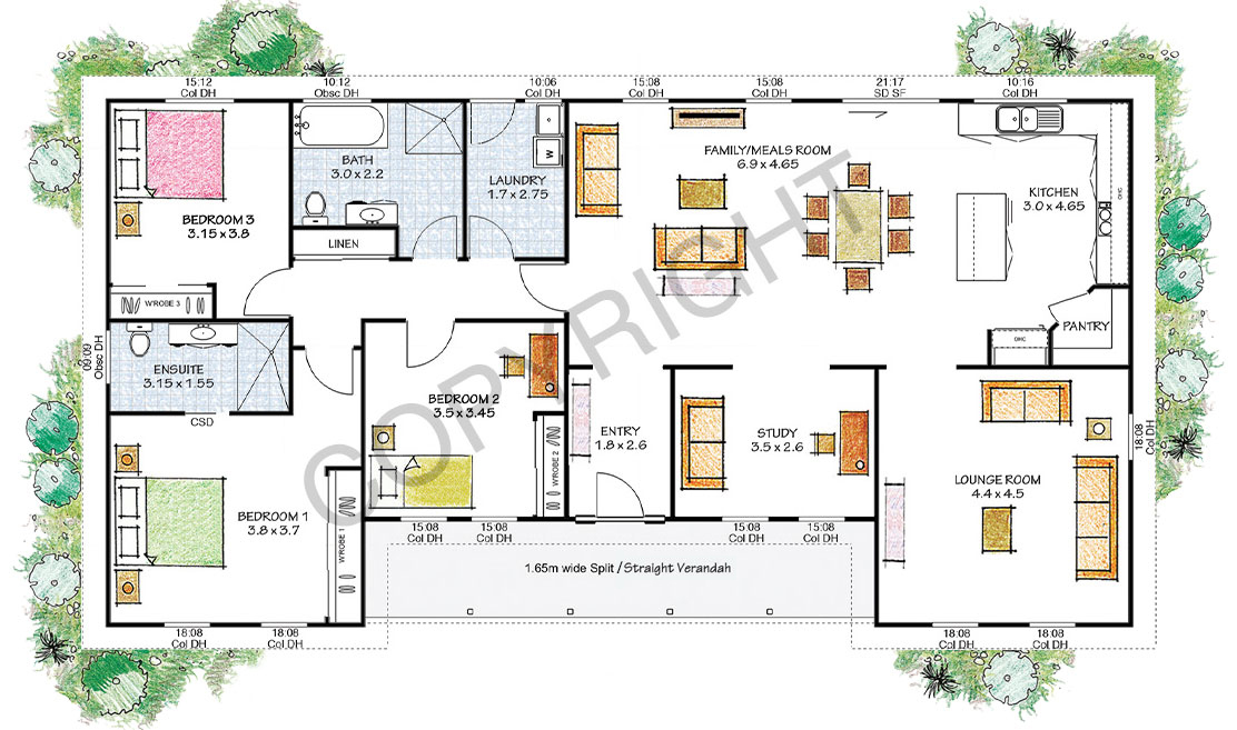 The Patterson floor plan