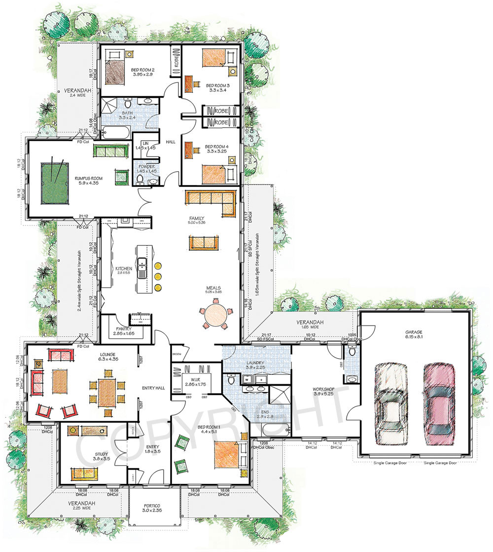 Paal Kit Homes Nsw Vic Qld The Franklin Floor Plan