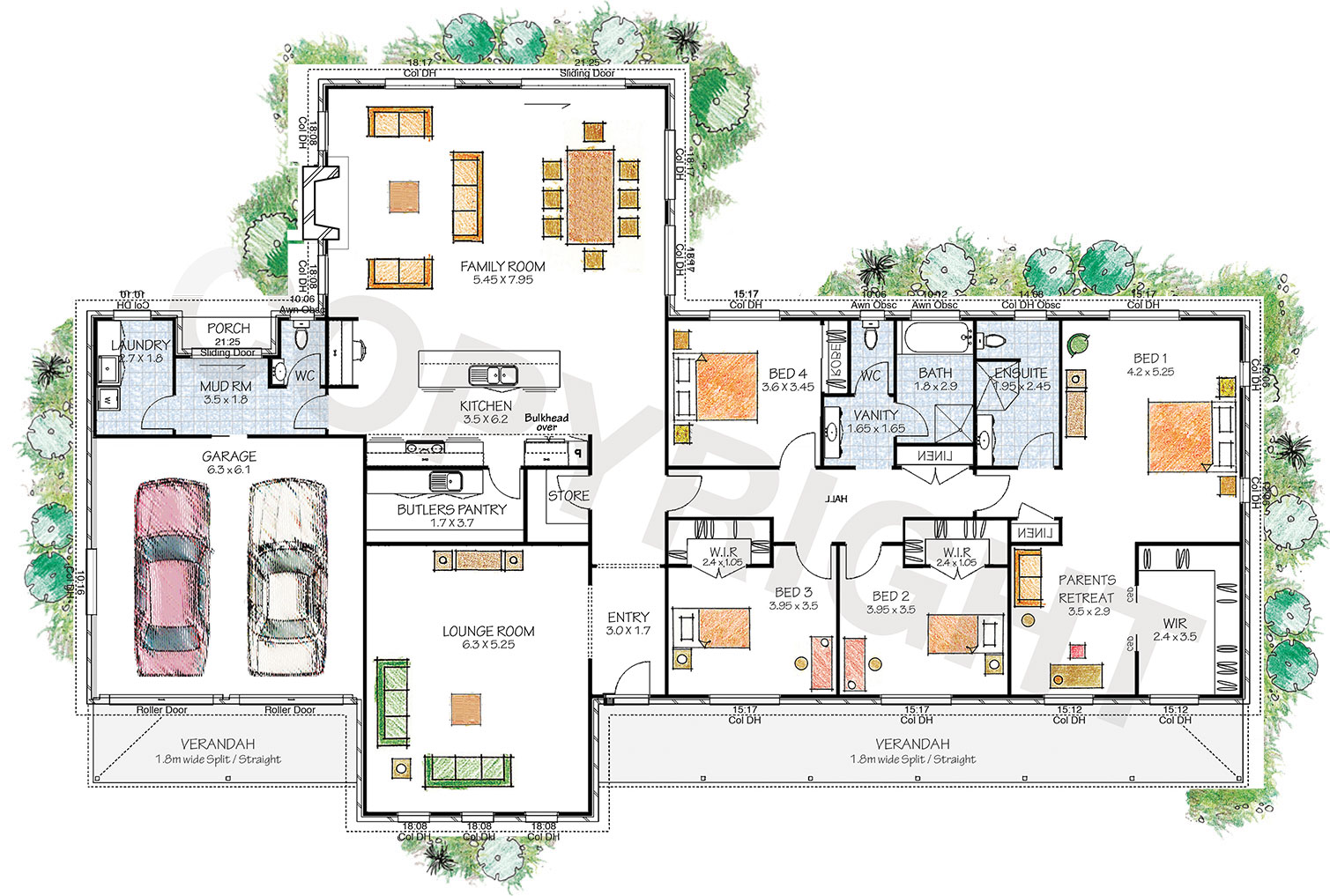 The Hartley floor plan - Download a PDF here - Paal Kit Homes offer easy to build steel frame kit homes for the owner builder and have display / sale centres in Sydney NSW, Melbourne VIC, Brisbane QLD, Townsville NTH QLD, Perth WA.