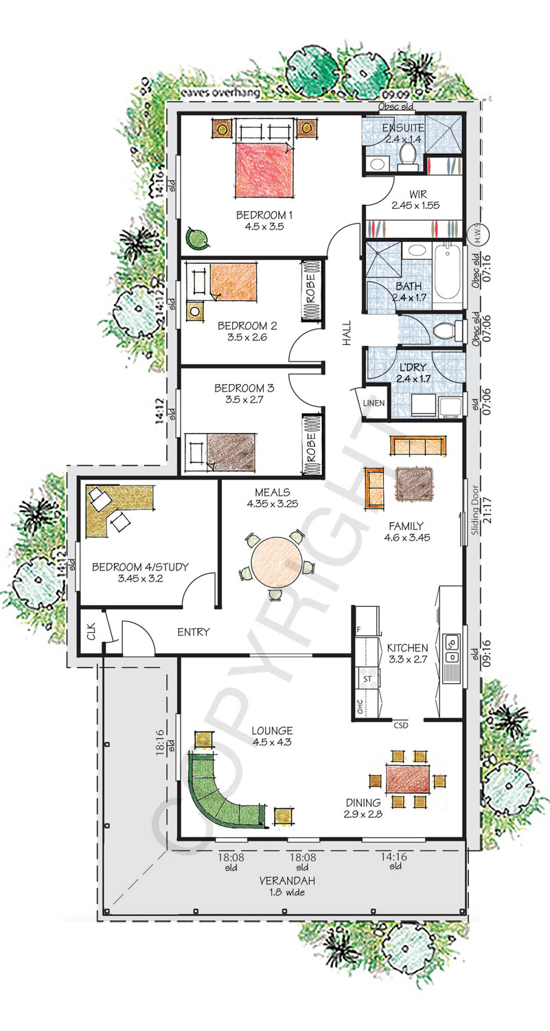 Kiama floor plan - Download a PDF here - Paal Kit Homes offer easy to build steel frame kit homes for the owner builder and have display / sale centres in Sydney NSW, Melbourne VIC, Brisbane QLD, Townsville NTH QLD, Perth WA.
