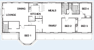 The Darling floorplan - 4BR 196 sqm Living Area, Under Roof Area: 248m² (26.7sq) O/A Frontage: 22.9m (75') Ceiling Height: 2.55m (8'6'') Roof Pitch: 30° - Paal Steel Frame Kit Homes NSW, Victoria, SE QLD & Nth QLD