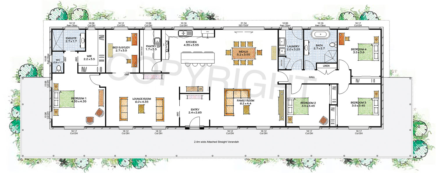 The riverina floor plan - Download a PDF here - Paal Kit Homes offer easy to build steel frame kit homes for the owner builder and have display / sale centres in Sydney NSW, Melbourne VIC, Brisbane QLD, Townsville NTH QLD, Perth WA.