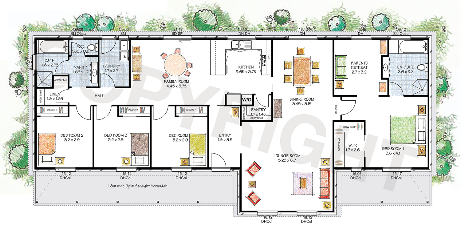 The Robertson floor plan - Download a PDF here - Paal Kit Homes offer easy to build steel frame kit homes for the owner builder and have display / sale centres in Sydney NSW, Melbourne VIC, Brisbane QLD, Townsville NTH QLD, Perth WA.
