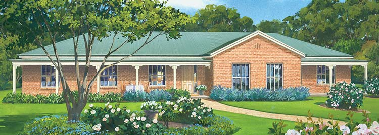 The Robertson Facade - Paal Kit Homes offer easy to build steel frame kit homes for the owner builder and have display / sale centres in Sydney NSW, Melbourne VIC, Brisbane QLD, Townsville NTH QLD, Perth WA.