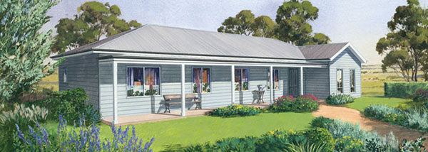 The Shoalhaven, Paal Kit Homes - 4 bedrooms, ensuite, walk in robe, family / dining room, lounge room, kitchen with walk in pantry and front verandah. - Steel Frame Kit Homes and Modular Homes in NSW, Victoria, QLD, SA, WA, NT and Tasmania click for more