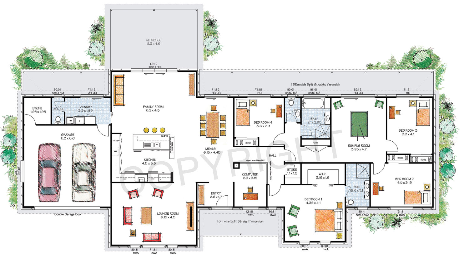 The Stanthorpe floor plan - Download a PDF here - Paal Kit Homes offer easy to build steel frame kit homes for the owner builder and have display / sale centres in Sydney NSW, Melbourne VIC, Brisbane QLD, Townsville NTH QLD, Perth WA.
