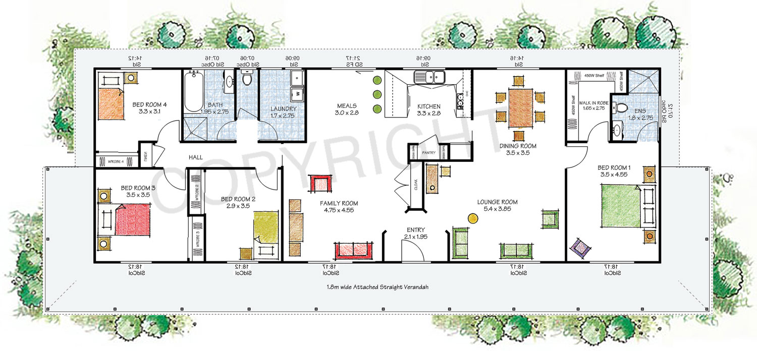Paal kit homes nsw vic qld the tasman reversed floor plan for Paal kit home designs
