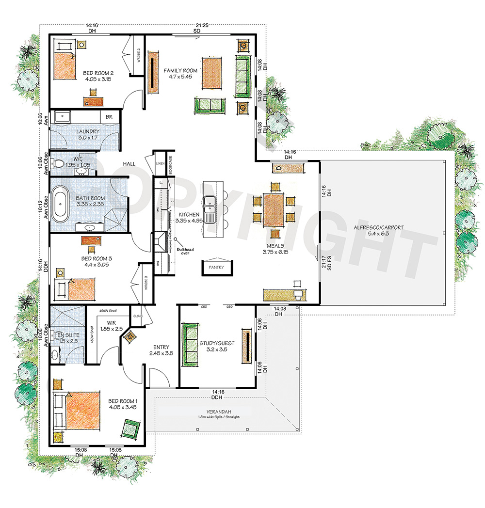 The Yarra floor plan - Download a PDF here - Paal Kit Homes offer easy to build steel frame kit homes for the owner builder and have display / sale centres in Sydney NSW, Melbourne VIC, Brisbane QLD, Townsville NTH QLD, Perth WA.