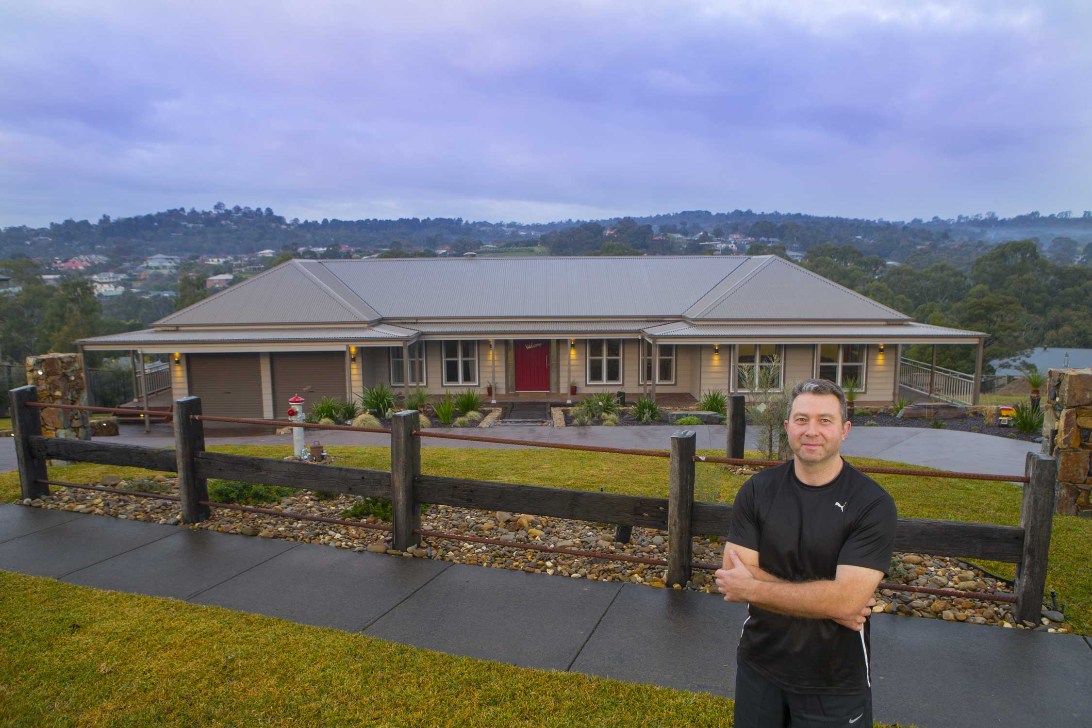 Owner Builders tackle the Castlereagh design from Paal kit homes Victoria