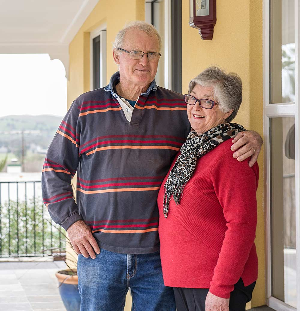 Retired couple, who are both in their 70s, owner built their own steel frame Paal kit home, the Camden design, managing the entire project and participating in the building process. PAAL Kit Homes NSW VIC QLD
