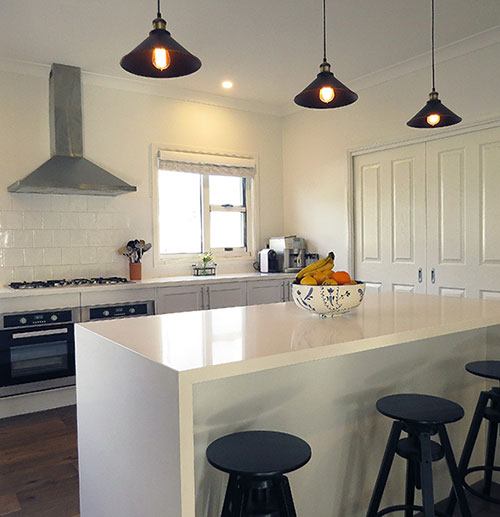 The couple looked at owner-builder options and found Paal's Riverina design to have many of the features they were looking for. PAAL Kit Homes NSW VIC QL
