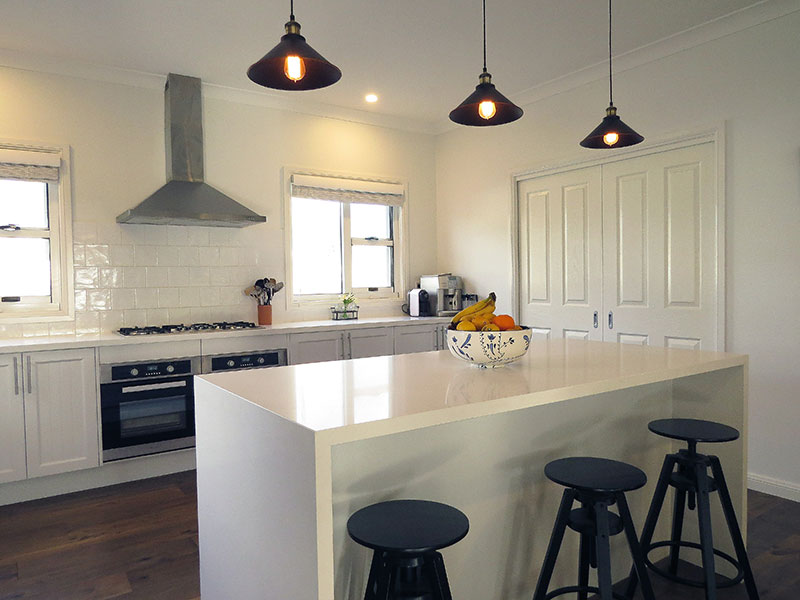 Margaret was able to put her collected design ideas collated over the years from TV programs to create the perfect kitchen using PAAL Kit Homes wide range of inclusions.