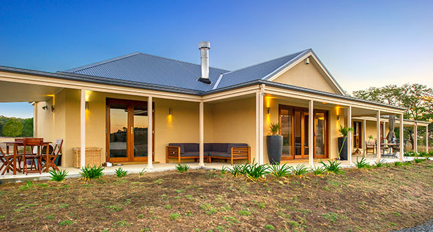 Paal kit home captures the charm of old australia yass nsw for Kit home designs nsw