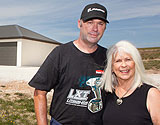Couple on acreage with new kit home