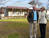Jeff & Felicity in front of new kit home