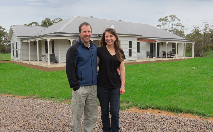 Brendan and Karen Helmrich owner built their own PAAL steel frame kit home at Little Hartley, just west of the Blue Mountains in New South Wales, saving themselves more than $100,000 in builders fees.