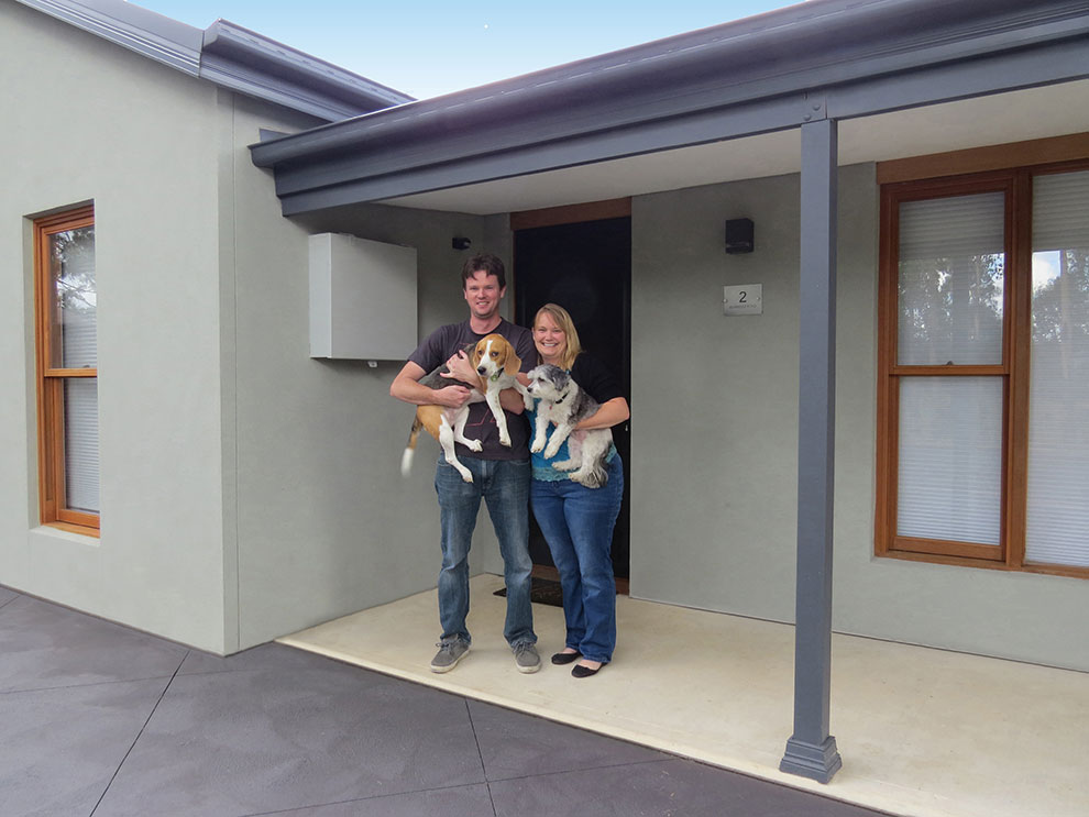 Owner builders Brendon and Cherie Luke built a PAAL steel frame kit home rather than renovate an existing property that wasn't worth the effort.
