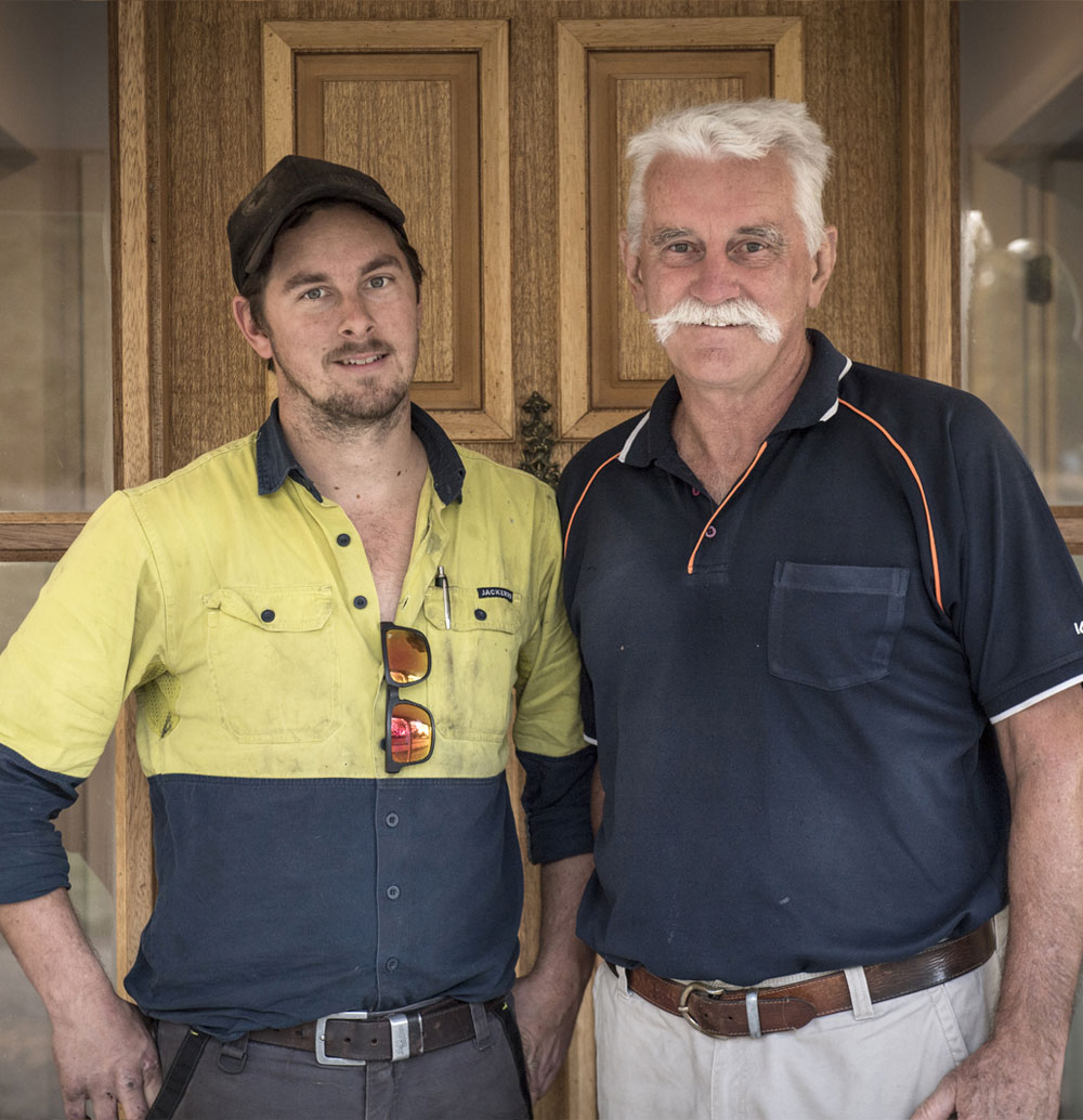 Father & son owner built a steel framed Paal kit home at Moruya in New South Wales