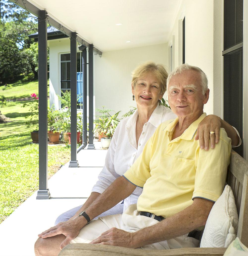 Allan & Kay on kit home porch