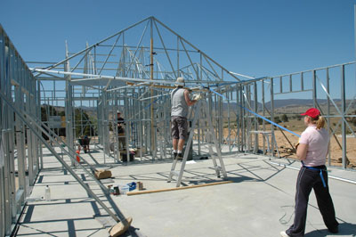 One family shows the construction of their PAAL 'Camden' kit home supplied by PAAL Kit Homes NSW VIC QLD