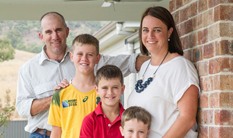 The couple and their three boys from Aberdeen, near Scone New South Wales (NSW), also appreciated the easy-construct nature of PAAL Kit Home steel packs. PAAL Kit Homes NSW VIC QLD