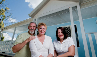 Owner builder grandmother proud at modifying and owner building a Paal steel frame kit home near Newcastle NSW and saving money. PAAL Kit Homes NSW, VIC, QLD.