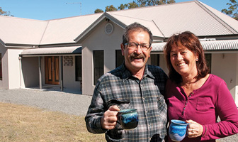 The Wilsons altered the Hawkesbury kit home floor plans to add al fresco area and a home cinema to their owner built home in QLD. PAAL Kit Homes Australia QLD.