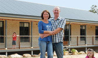 Kurrajong couple chose to owner build with PAAL Kit Homes because of the satisfaction of constructing their own home. PAAL Steel Frame Kit Homes NSW VIC QLD.